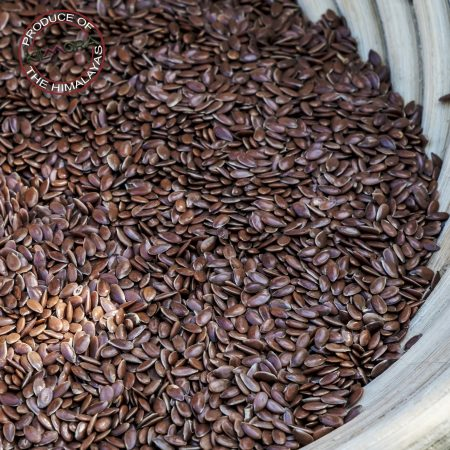 Close up of flaxseed in a basket