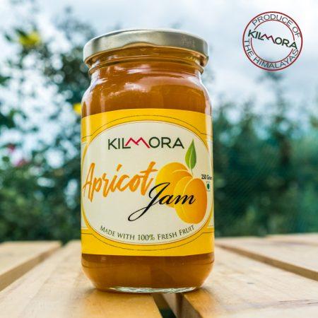 250 gram glass jar of Kilmora's Apricot Jam