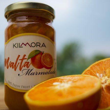 250 gram glass jar of Malta (Blood Orange) Marmalade
