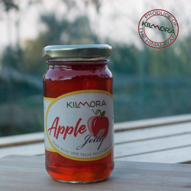 Glass jar with Apple Jelly